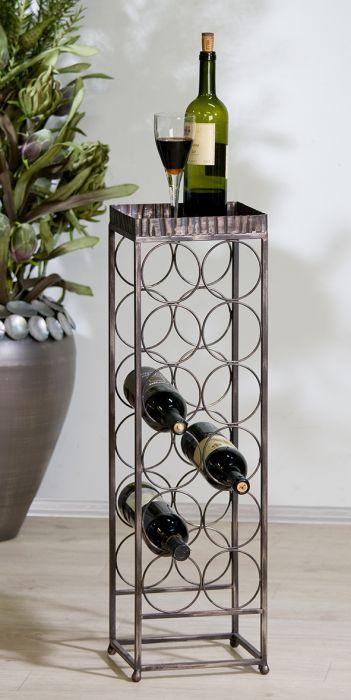 weinregal albany metall antik gold gewischt f r 12. Black Bedroom Furniture Sets. Home Design Ideas